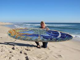 custom glass mosaic surfboard tree of life on hand painted surfboard wall art with got an old surfboard custom surfboard mosaic wall art