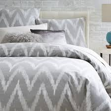 gray and white chevron duvet cover sweetgalas with regard to covers inspirations 19