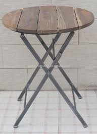 small round wooden garden table and chairs designs