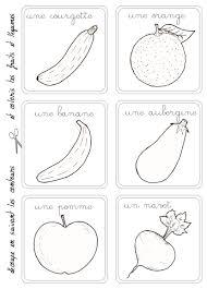 Le M Mo Du March Colorier Fruit Legume Et Garderie