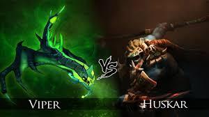 dota 2 huskar vs viper one click battle youtube