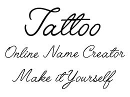Letters For Tattoos Names Template Fascinating Make It Yourself Online Tattoo Name Creator