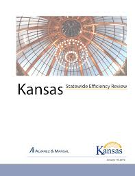 Kdads Organizational Chart Kansas Statewide Efficiency Review January 19 2016