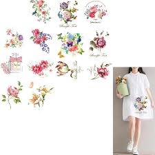 <b>ZOTOONE Flower Patch</b> Iron on Transfers Clothes Stickers Dresses ...