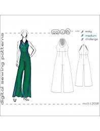 Jumpsuit Pattern Adorable Jumpsuit With Cowlneck Highwaisted Palazzo