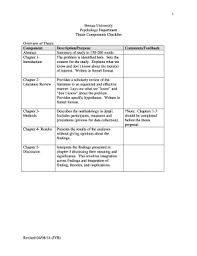 Literature Review Outline Example Literature Review Outline