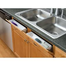 under kitchen sink cabinet. Rev-A-Shelf 3.8125 In. H X 14 W 2.125 D White Polymer Tip Out In-Cabinet Sink Front Trays And Hinges-6572-14-11-52 - The Home Depot Under Kitchen Cabinet