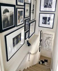 picture frames on staircase wall. Staircase Picture Frames Creative Wall Decorating Ideas Art Stairs Gallery . On
