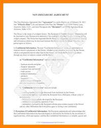 Free Nda Template 9 Free Non Disclosure Agreement Template St