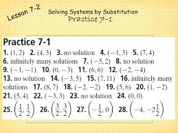 7 solving systems by substitution