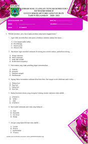 Maybe you would like to learn more about one of these? Pts Plh Kelas 4 Semester 1 Worksheet