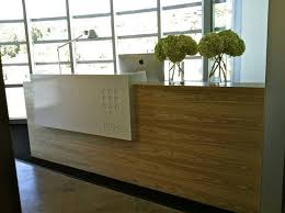circular reception desk modern reception desks stoneline designs throughout wood reception desk ideas