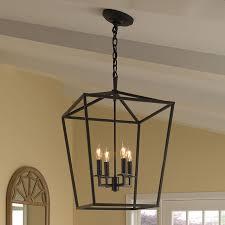 cage 4 light foyer pendant