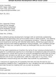 Sample Cover Letter Business Development Officer Adriangatton Com