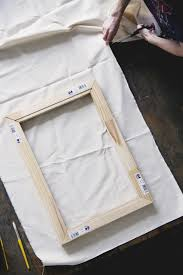 make how to stretch your own canvas for your next painting free people blog