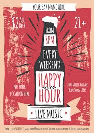 Happy Hour Flyer 009 Happy Hour Invitation Templates Flyer Template 1920x2716