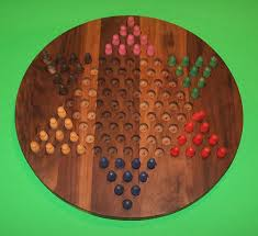 wooden peg game board chinese checkers oiled 18 circle black walnut w 1926 5 peg
