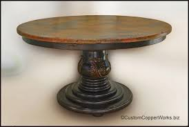 hammered copper dining table top. round copper top dining table: copper table top - 54 x 1.5 inches hammered dining c