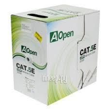 <b>Сетевой кабель AOpen</b> Light UTP cat.5e 4 пары 305m ANC514-40