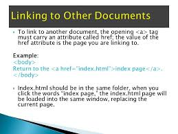 In this lecture, you will learn: ❑ How to link between pages of ...