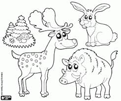 Forest Animal Coloring Page Forest Animals Coloring Pages Printable Games