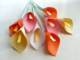 Flower Paper Craft Diy Paper Calla Lily How To Make A Flowers Rosettes