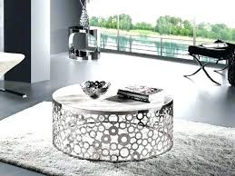 silver drum table excellent silver round coffee table perfect for interior round modern coffee within silver