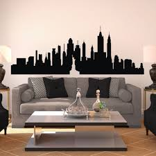 new york city skyline silhouette the big apple wall sticker nyc vinyl wall decal art home decor wall graphic mural 12 h x32 w in wall stickers from home  on new york skyline wall art stickers with new york city skyline silhouette the big apple wall sticker nyc