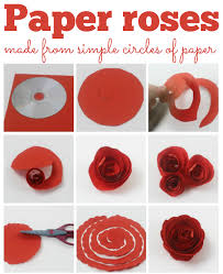 How To Create A Flower With Paper How To Make Simple Paper Roses And Beautiful Roses For Mothers Day