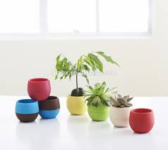 office flower pots. mini round plastic plant flower pot home office decor planter pots 1