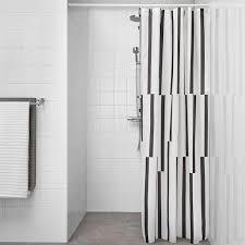 Image Bathroom Ikea Shower Curtain Kinnen White Black