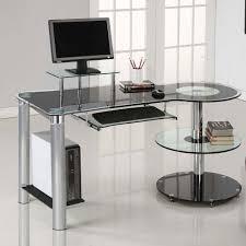 contemporary glass office. Black Desk Computer Laptop Glass Work Modern Contemporary Glass Top Office  Furniture Contemporary