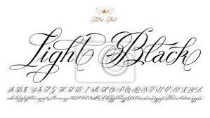 Plakát Light Black Tattoo Písmo