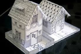 christmas house template mel stampz wee houses 124 links templates tutorials etc