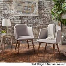 rhys mid century fabric dining chair set of 2 by christopher knight home