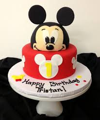 Mickey Mouse Cake Baby Beas Bakeshop