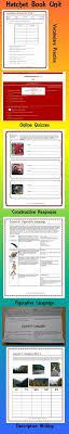 hatchet novel study digital printable book unit activities quizzes