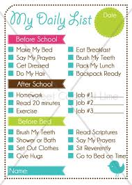 Editable Chore Charts Kids Daily List And Chart By Checklist App