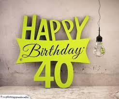 Holzausschnitt Happy Birthday 40 Geburtstag Spruch
