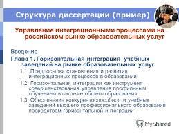 Презентация на тему Корпоративные коммуникации и корпоративная  7 Структура диссертации