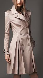 burberry long full skirt stretch cotton trench coat