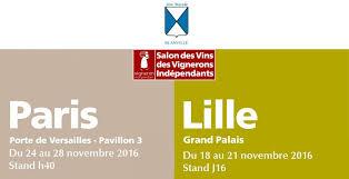 nous serons aux salons des vins des vignerons indépendants