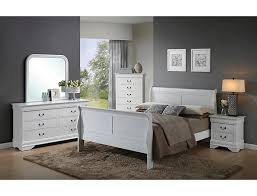 Philippe 3 Piece Twin Bedroom Set, White | Outlet at Art Van