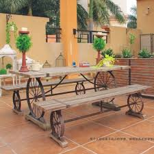 iron wood dining design after doing the old wrought iron wood dining table outdoorjpg american country wrought iron vintage desk