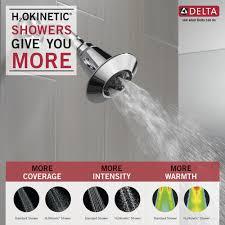 delta adjule water amplifying shower head in chrome