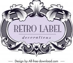 Editable Vintage Label Template Free Vector Download 31 517