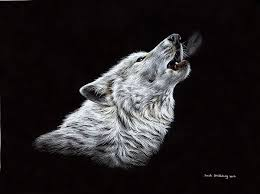 wolf howling painting. Brilliant Wolf Wolf Art Print Featuring The Drawing White Howling By Sarah Stribbling With Painting A