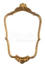 vintage gold mirror frame
