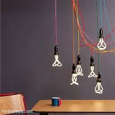 creative lighting ideas. coloured cords lighting arrangement modeofstylecom creative ideas m