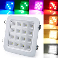 Led Panel Stage Lighting Us 80 99 New Sound Activated Control 16w Smd5050 Led Panel Downlight Disco Party Dj Home Lamp Music Show Strobe Projector Stage Lighting In Stage